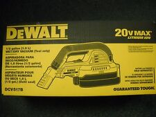 DeWalt Dcv517B 20-Volt 1/2-Gallon Wet/Dry Portable Cordless Vacuum Hepa New Box