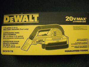 DeWALT DCV517B 20-Volt 1/2-Gallon Wet/Dry Portable Cordless Vacuum HEPA NEW BOX