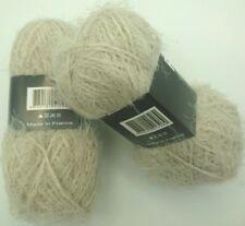 10 pelotes laine poilue  trés agréable :   couleur : LIN