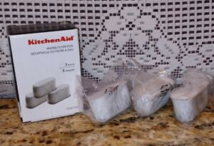KITCHEN AID WATER FILTER POD 3 PACK KCM11WF Sealed Brand New