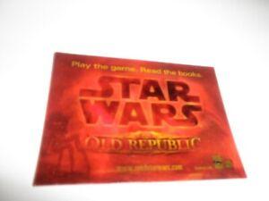 Star Wars OLD REPUBLIC Promo Lenticular Trading Card Comic Con Promo