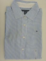 NWT Tommy Hilfiger Short Sleeve Striped Button Down Shirt For Women XS M L XL
