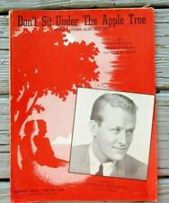 """1942 """"DON'T SIT UNDER THE APPLE TREE"""" VINTAGE SHEET MUSIC GREAT EARLY PAPER ITEM"""