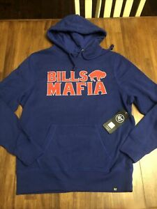 Buffalo Bills '47 Mens Hoodie Blue Long Sleeve Pockets New With Tags Large