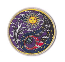 SUN MOON YING YANG Iron on / Sew on Patch Embroidered Badge Peace Love PT145