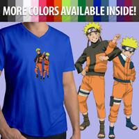 Unisex Mens Tee T-Shirt Print Naruto Uzumaki Shippuden Anime Manga Ninja Shinobi