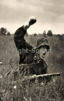 WW2 Picture Photo German Soldier Attack totenkopf 3318