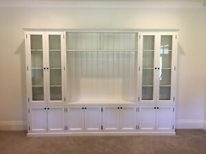 """Hampton 4.0"" Classic Integrated Wall TV Unit Bookshelf Living Room Furniture"