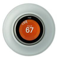 Nest Thermostat Wall Plate Metal Cover for Learning 3/2/1 Gen Silver