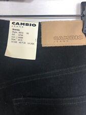 Cambio Jeans Womens 10 Nwt Brenda Corduroy Black