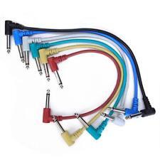 Cobre Envuelto Paquete de 6Pcs Electric Guitar Patch Cable Efectos Pedal