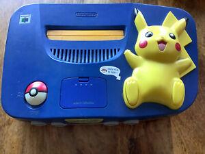 N64 Nintendo 64 Konsole Pokemon Pikachu PAL