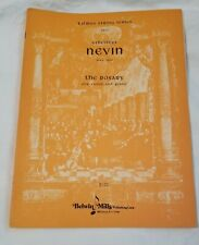 """Ethelbert Nevin """"The Rosary"""" for Violin & Piano Belwin Mills"""