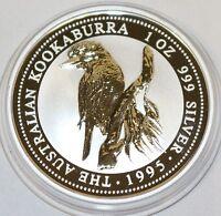 Australien 1 Dollar 1995 Kookaburra 1 oz Silber Unze Australia silver coin Unze