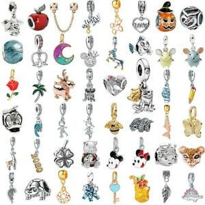 European Silver Charms Beads Pendant FOR DIY 925 sterling Bracelet Chain Bangle