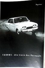 FORD TAUNUS p3 Pubblicità originale da 1961 --- in stampa firmato chargesheimer