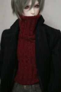 1/3 SD DOD BJD sweater coat Leisure clothing lolita doll Dollfie wine red