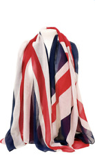 Union Jack British Flag Viscose Large Scarf Shawl Wrap Sarong Beach Cover-up