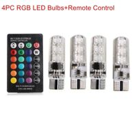 T10 5050 6SMD RGB LED Multi Color change Lights Car Wedge Bulbs Remote Control