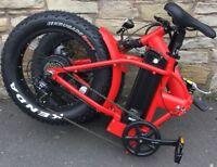 SNOW ELECTRIC FOLDING SUSPENSION BICYCLE PEDELEC CYCLE EBIKE MOTOR GO E BIKE FAT