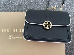 Tory Burch Leather Cross Body Bag, Black.