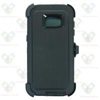 Black Samsung Galaxy S7 Edge Case w/ Screen & Clip fits Otterbox Defender