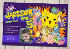 POKEMON Invitation Birthday Party Invite POKEMON GO PIKACHU YOU PRINT