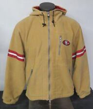 Champion Vintage 49ers Full Zip Jacket Brown Zipper Pockets Size Medium M (Big)