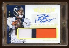 BRONCOS PEYTON MANNING AUTO #D /10 JUMBO PATCH LOGO 3 COLOR  NATIONAL TREASURES