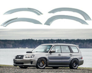Fender Flares for Subaru Forester XT SG5 SG9 02-08 STi Wheel Arch Extensions JDM