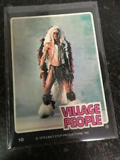 THE VILLAGE PEOPLE 1979 FELIPE DONRUSS ROCK STARS SERIES CARD # 10 NEAR MINT