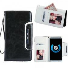 Handy Tasche Schutz hülle Case Etui Cover für Samsung Galaxy S7 Schwarz-weiss