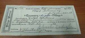 1918 Village Of Shumway, Illinois Signed Poll Tax Document