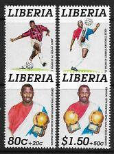 STAMPS-LIBERIA. 1995. George Weah Golden Ball Winner Set. Mi: 1299/302. MNH.