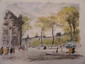 Cascella Michele Bella Litografia di Parigi 1955