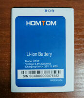 Original Homtom HT37 3000mAh Li-ion Battery For HOMTOM HT37 CellPhone Warranty