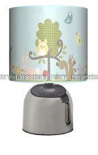 WOODLAND ANIMALS ☆ BEDSIDE TOUCH LAMP ☆ GIRLS BOYS BABY BEDROOM NURSERY  UK PLUG