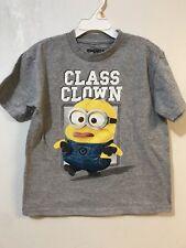 Minions T-Shirt Boys Medium Gray Class Clown Despicable Me