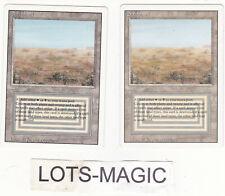 Lot de x2 cartes MAGIC MTG Dual land Scrubland Revised ENGLISH 1994 NM