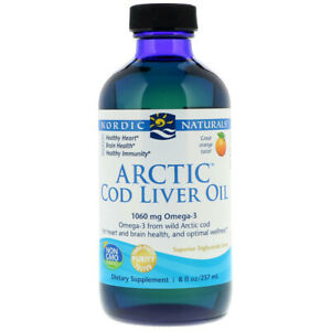 Nordic Natural Arctic Cod Liver Oil, 1060 mg Orange 237 ml, Omega 3, Vitamin A
