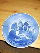 Vtg Royal Copenhagen Christmas at Home 1971 B & G Collector's Plate 8000/9071