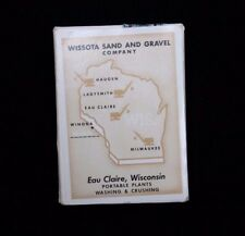 Tax Stamp Playing Cards US Revenue Wisconsin Wissota Sand and Gravel NOS Sealed