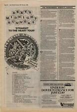 Dexys Midnight Runners Straight To The Heart Tour Advert NME Cutting 1980