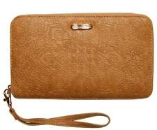 BILLABONG NEW WITH TAGS LADIES LUST CARAMEL ZIP AROUND WALLET