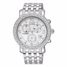 Citizen Eco-Drive Women's FB1290-58A Refurbished Silver Chronograph 38mm Watch