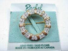 with Swarovski Crystals 1705 Rachel Gold Plated Brooch