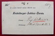 1911 HEIDELBERG - Chirurg MAX WILMS - eigh. Postkarte