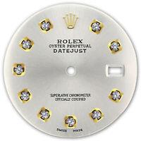 REFINED MENS 2-TONE DATEJUST SILVER DIAMOND DIAL FOR ROLEX-36