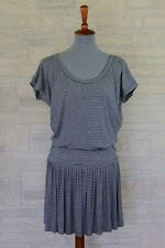 "NWT Norma Kamali Striped Lightweight Jersey ""Rara"" Dress Small 4-6"
