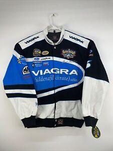 VTG NASCAR Mark Martin Salute To You Viagra Roush Racing JH Design Jacket Sz XL